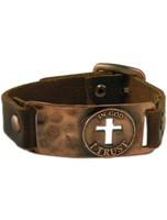 Leather Bracelet In God I Trust
