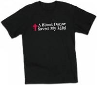 T-Shirt Blood Donor Black XL