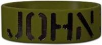 Wide Silicone Wristband: John316