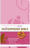 NIV Waterproof New Testament, Psalms & Proverbs Pink Brown