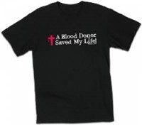 T-Shirt Blood Donor Black Small