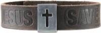 Leather Bracelet Jesus Saves