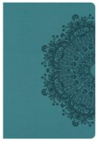 KJV Compact Ultrathin Bible, Teal Leathertouch
