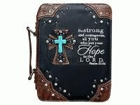 Fashion Bible Cover Cross/Hope Black