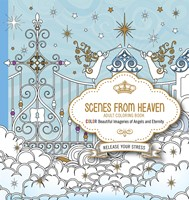 Scenes From Heaven Adult Coloring Book