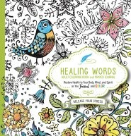 Healing Words Adult Coloring Book And Prayer Journal (Paperback)