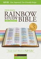 NIV Rainbow Study Bible, Cocoa/Terra Cotta/Ochre (Imitation Leather)