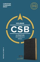 CSB Ultrathin Reference Bible, Black Leathertouch, Indexed