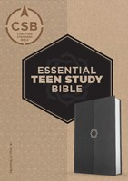 CSB Essential Teen Study Bible, Charcoal Leathertouch (Imitation Leather)