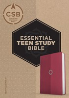 CSB Essential Teen Study Bible, Rose Leathertouch (Imitation Leather)
