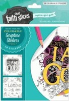 Psalm 46:10 Colorable Stickers (Stickers)