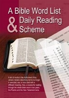 Bible Word List and Reading Plan