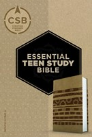 CSB Essential Teen Study Bible, Personal Size, Aztec Leather (Imitation Leather)