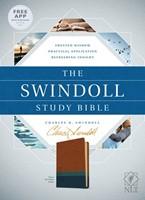 The NLT Swindoll Study Bible Brown/Teal/Blue