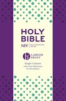 NIV Larger Print Compact Single Column Reference Purple