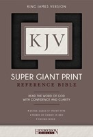 KJV: Super Giant Print Reference Bible, Flexisoft, Brown