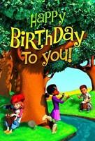 Deep Blue Kids Happy Birthday Postcard (Pkg of 25)