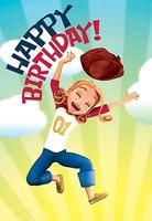 Deep Blue Kids Kat Happy Birthday Postcard (Pkg of 25)