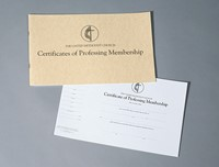 The United Methodist Church Certificates of Professing Membe (Loose-leaf)