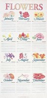 Flower Chart Flat (Miscellaneous Print)