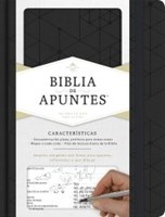 RVR 1960 Biblia de apuntes, negro símil piel (Imitation Leather)