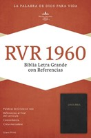 RVR 1960 Biblia Letra Gigante con Referencias, negro imitaci (Imitation Leather)
