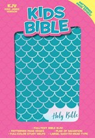 KJV Kids Bible, Aqua LeatherTouch (Imitation Leather)