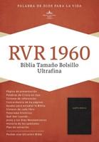 RVR 1960 Biblia Ultrafina Tamaño Bolsillo, piel fabricada ne (Bonded Leather)