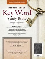 The ESV Hebrew-Greek Key Word Study Bible Black