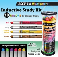 Inductive Bible Study Kit - 10piece w/ Case (Kit)