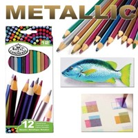 Metallic Coloured Pencil Set 12-piece