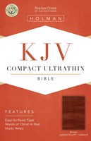 KJV Compact Ultrathin Reference Bible, Brown, Indexed (Imitation Leather)