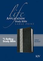 KJV Life Application Study Bible Large Print, Black/Ivory (Imitation Leather)