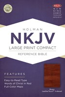 NKJV Large Print Compact Reference Bible, Brown (Imitation Leather)
