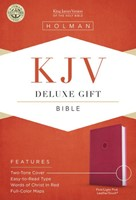 KJV Deluxe Gift Bible, Pink Leathertouch (Imitation Leather)