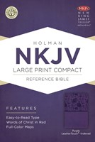 NKJV Large Print Compact Reference Bible, Purple (Imitation Leather)