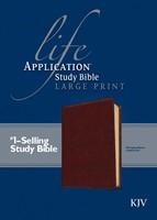 KJV Life Application Study Bible Large Print, Brown (Imitation Leather)