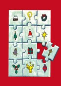 Pack of 6 (with envelopes) - Christmas Jigsaw