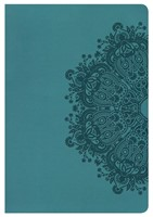 HCSB Large Print Ultrathin Reference Bible, Teal
