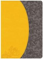 KJV Study Bible, Canary/Slate Grey, Leathertouch (Imitation Leather)