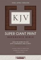 KJV Super Giant Print Reference Bible, Brown, Indexed