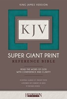 KJV: Super Giant Print Reference Bible, Turquoise, Indexed