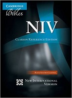 NIV Clarion Reference Edition Goatskin Black (Genuine Leather)
