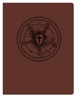 Lutheran Study Bible, Luther's Rose, Brown/Burgundy (Leather Binding)