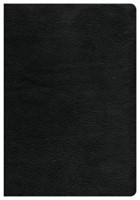 CSB Giant Print Reference Bible, Black Genuine Leather (Genuine Leather)