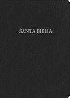 RVR 1960 Biblia Letra Gigante negro, piel fabricada con índi (Bonded Leather)