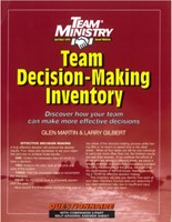 Team Decision Making Inventory (Paper Back)