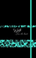 Write Journal: From the Heart, Blue/Black Flowers (Onyx) (Imitation Leather)