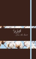 Write Journal: From the Heart, Cotton Flowers (Nutmeg) (Imitation Leather)