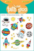 Heavens Declare His Glory, The - Faith That Sticks Stickers (Stickers)